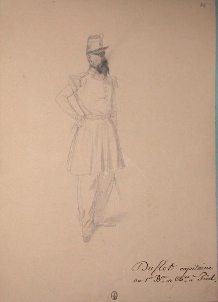Duflot, capitaine au 1er bataillon de chasseurs à pied ; Siège de Rome de 1849 (en 3 tomes)