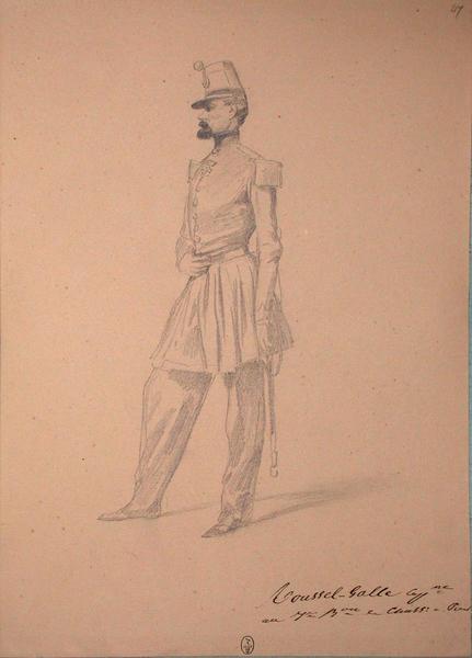 Toussel-Galle, capitaine au 7e bataillon de chasseurs à pied ; Siège de Rome de 1849 (en 3 tomes)_0