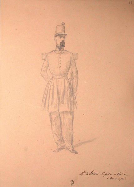 Maréchal de Brettes, capitaine au 1er bataillon de chasseurs à pied ; Siège de Rome de 1849 (en 3 tomes)