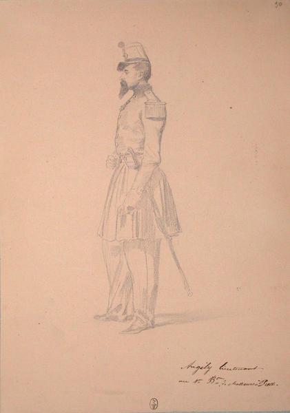 Angely, lieutenant au 1er bataillon de chasseurs à pied ; Siège de Rome de 1849 (en 3 tomes)