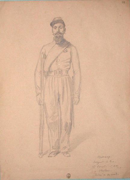 Tramanp, sergent de tir 3e compagnie, 1er bataillon de chasseurs, décoré au 30 avril ; Siège de Rome de 1849 (en 3 tomes)_0