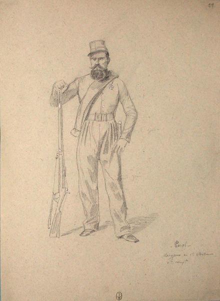 Peral, sergent au 1er chasseurs, 8e compagnie ; Siège de Rome de 1849 (en 3 tomes)_0