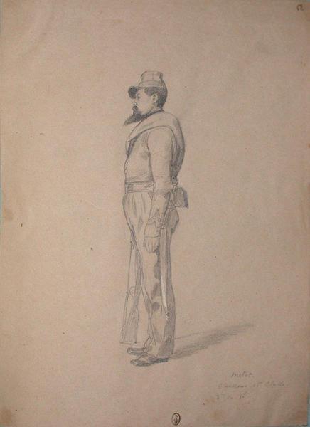 Metet, chasseur 1ère classe, 3eme du 1er bataillon ; Siège de Rome de 1849 (en 3 tomes)_0