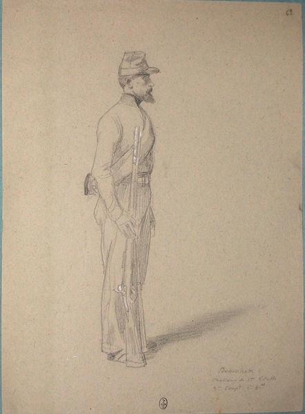 Beauchet, chasseur 1ère classe, 3eme du 1er bataillon ; Siège de Rome de 1849 (en 3 tomes)_0