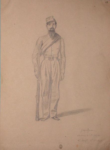 Grandjean, chasseur de 1ère classe, 4ème compagnie, 1er chasseur ; Siège de Rome de 1849 (en 3 tomes)_0