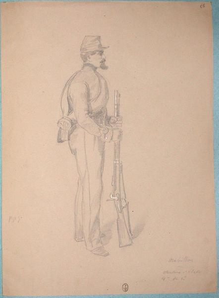 Mabillon, chasseur 1ère classe, 8e du 1er bataillon ; Siège de Rome de 1849 (en 3 tomes)_0