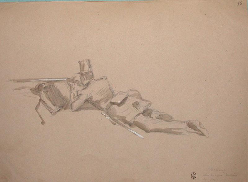 Chasseur embusqué derrière son sac ; Siège de Rome de 1849 (en 3 tomes)
