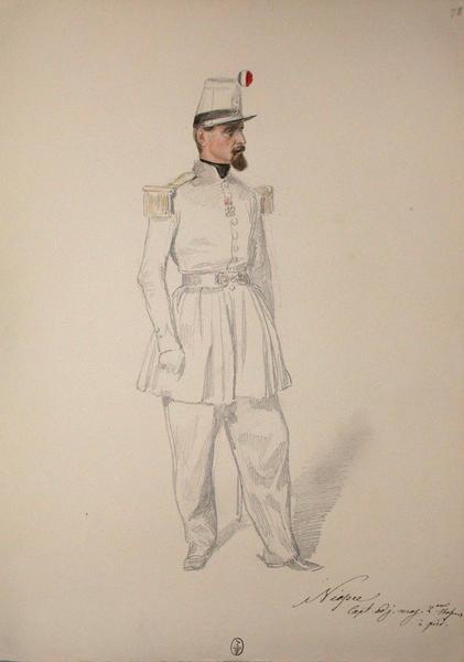 Niepce, Capitaine Adjudant Major, 2e chasseur à pied ; Siège de Rome de 1849 (en 3 tomes)