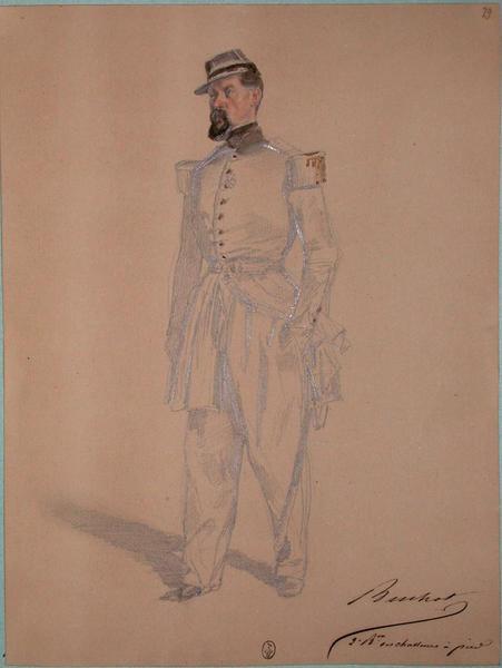 Buchot, capitaine 2e division, bataillon des chasseurs à pied ; Siège de Rome de 1849 (en 3 tomes)