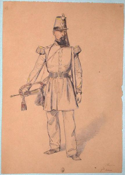 Clairon, grande tenue ; Siège de Rome de 1849 (en 3 tomes)