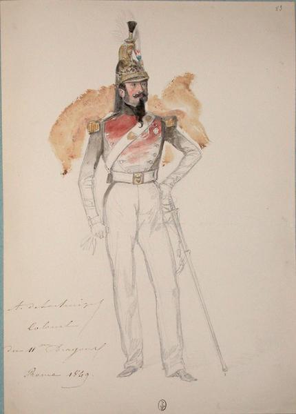 A. De Lachaize, colonel du 11e Dragon, Rome 1849 ; Siège de Rome de 1849 (en 3 tomes)_0