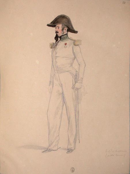 Le colonel de Lachaize (petite tenue) ; Siège de Rome de 1849 (en 3 tomes)_0