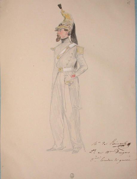 Mr de Reinach, lieutenant au 11e dragons, 3e escadron de guerre ; Siège de Rome de 1849 (en 3 tomes)_0