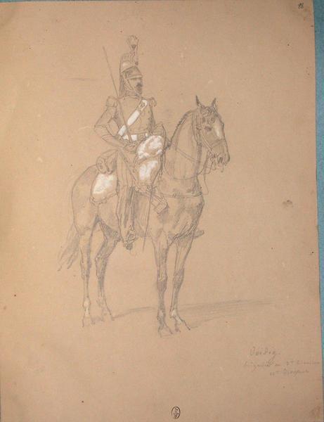 Viedig, brigadier au 3e escadron 11e dragons ; Siège de Rome de 1849 (en 3 tomes)_0