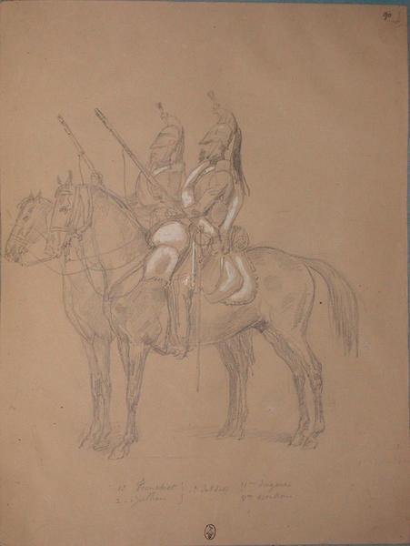 Tronchet et Jullien, 1ers soldats, 11e dragons, 3e escadron ; Siège de Rome de 1849 (en 3 tomes)