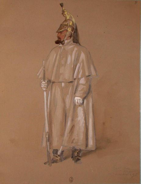 Touttain, 11e dragon, 4e escadron de guerre ; Siège de Rome de 1849 (en 3 tomes)_0