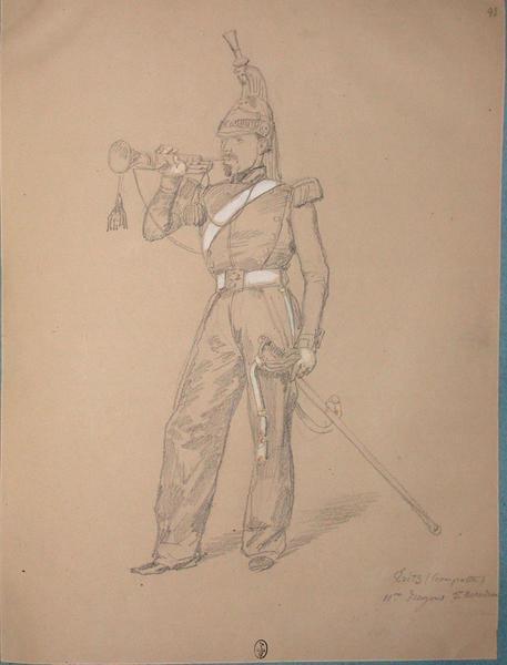 Tritz (trompette), 11e dragons, 3e escadron ; Siège de Rome de 1849 (en 3 tomes)_0