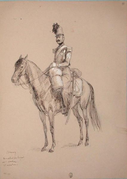 Comay, maréchal des logis au 1er chasseur, 2e escadron ; Siège de Rome de 1849 (en 3 tomes)_0