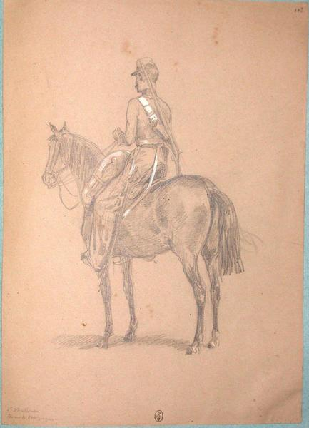 1er chasseur, tenue de campagne ; Siège de Rome de 1849 (en 3 tomes)_0