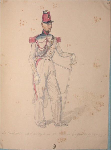 L. de Constantin. Maréchal des logis au 2e escadron des guides d'état major ; Siège de Rome de 1849 (en 3 tomes)