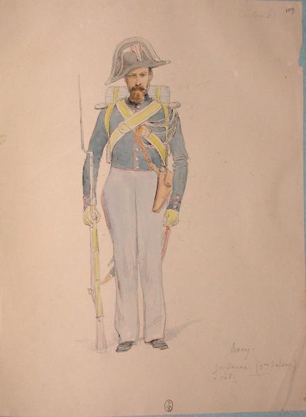 Rony, gendarme à pied (3e division) ; Siège de Rome de 1849 (en 3 tomes)_0