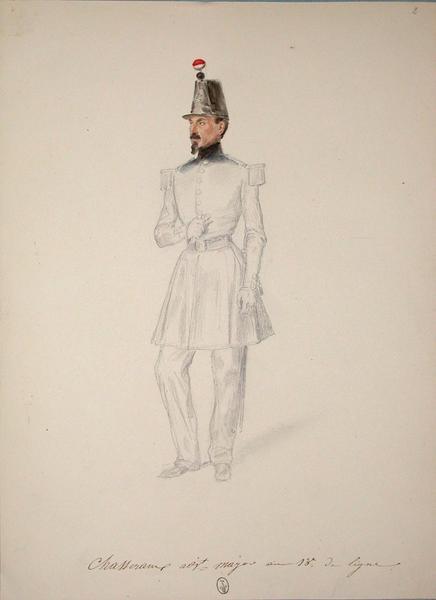 Chasseraux, adjudant major au 13e de ligne ; Siège de Rome de 1849 (en 3 tomes)_0
