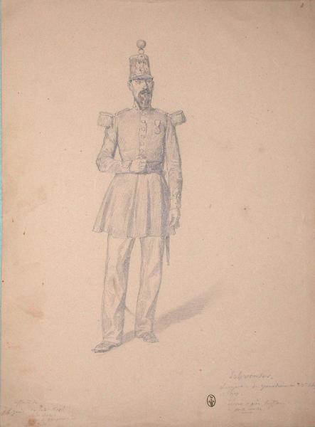 Schweinser, sergent de grenadiers au 13e de ligne, 1er bataillon décoré après l'affaire de Porte-molle ; Siège de Rome de 1849 (en 3 tomes)_0