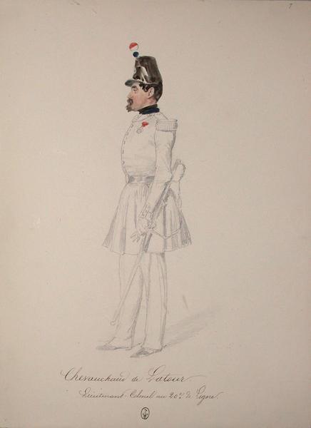 Chevauchaud de Latour, lieutenant colonel au 20e de ligne ; Siège de Rome de 1849 (en 3 tomes)_0