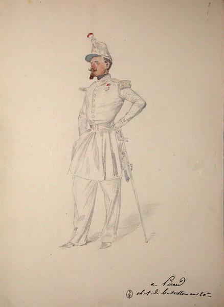De Picard, chef de bataillon au 20e ; Siège de Rome de 1849 (en 3 tomes)_0