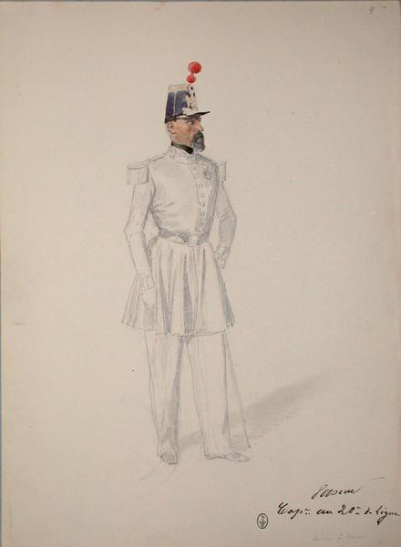 Pascal, capitaine au 20e de ligne, décoré à Rome ; Siège de Rome de 1849 (en 3 tomes)_0