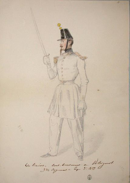 De Lignières, sous-lieutenant de voltigeurs au 33e régiment de ligne (3e bataillon) ; Siège de Rome de 1849 (en 3 tomes)_0