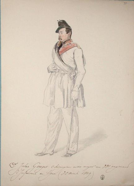 Docteur Gilles Gouget, chirurgien aide major au 33e régiment d'infanterie de ligne (30 avril 1849) ; Siège de Rome de 1849 (en 3 tomes)_0