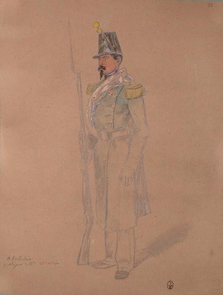 Echalier, voltigeur, 3e bataillon, 33e de ligne ; Siège de Rome de 1849 (en 3 tomes)