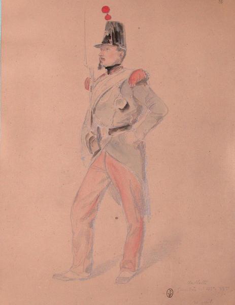 Valette, grenadier, 1er bataillon 33e, 30 avril ; Siège de Rome de 1849 (en 3 tomes)
