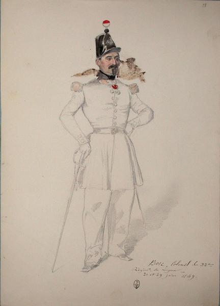 Bosc, colonel au 32e régiment de ligne, 21 et 29 juin 1849 ; Siège de Rome de 1849 (en 3 tomes)_0