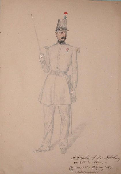 Mr Dantin, chef de bataillon au 32e de ligne, assaut du 21 juin 1849 (brèche de la courtine) ; Siège de Rome de 1849 (en 3 tomes)_0