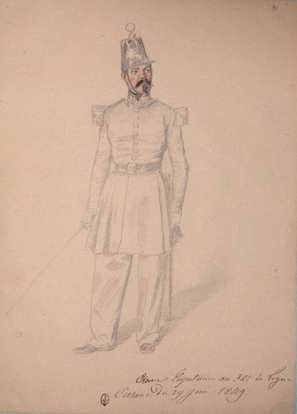 Aune, capitaine au 32e de ligne, assaut du 29 juin 1849 ; Siège de Rome de 1849 (en 3 tomes)_0