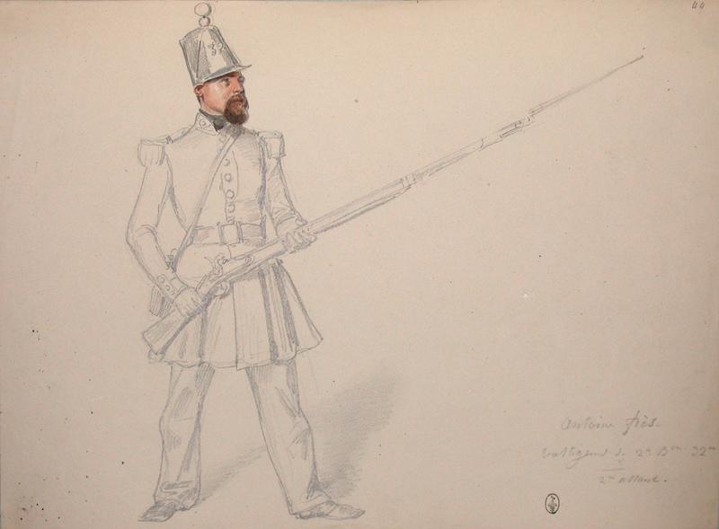 Antoine Fres, voltigeur du 2e bataillon, 32e, 2e assaut ; Siège de Rome de 1849 (en 3 tomes)_0