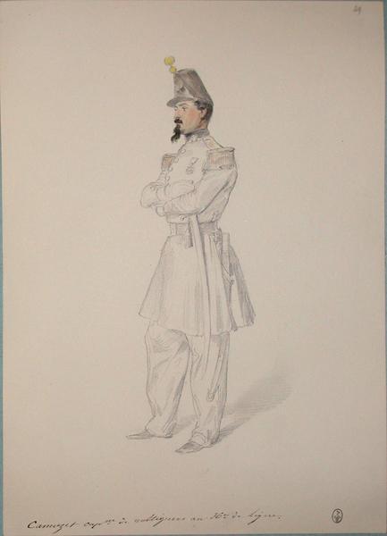 Camuzet, capitaine de voltigeurs, 36e de ligne ; Siège de Rome de 1849 (en 3 tomes)