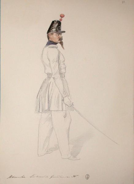 Stammler, lieutenant de grenadiers au 36e ; Siège de Rome de 1849 (en 3 tomes)