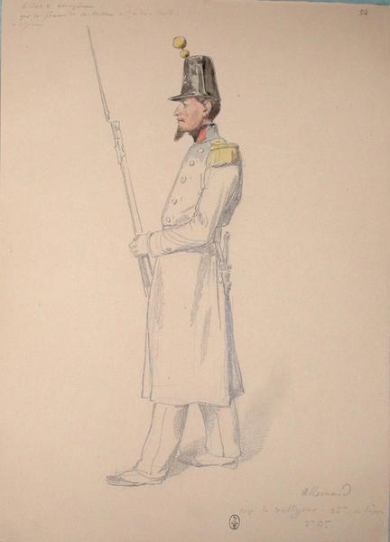 Allemand, capitaine de voltigeurs, 36e de ligne, 3e bataillon ; Siège de Rome de 1849 (en 3 tomes)