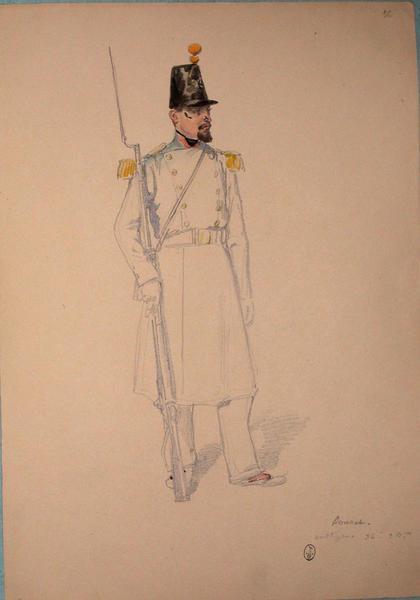 Bonnet, voltigeur 36e, 3e bataillon ; Siège de Rome de 1849 (en 3 tomes)