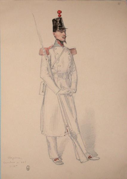 Craponne, grenadier au 36e, 3e bataillon ; Siège de Rome de 1849 (en 3 tomes)_0
