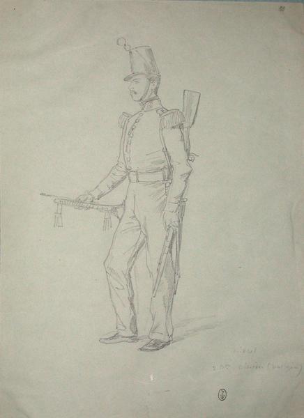 Michel, 2e bataillon, caliron (voltigeur) ; Siège de Rome de 1849 (en 3 tomes)