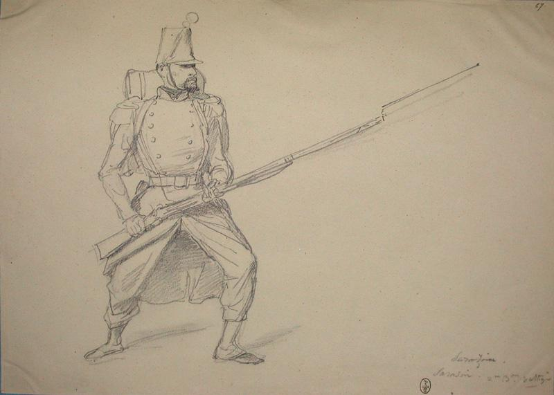 Sarasin, 2e bataillon voltigeur ; Siège de Rome de 1849 (en 3 tomes)_0