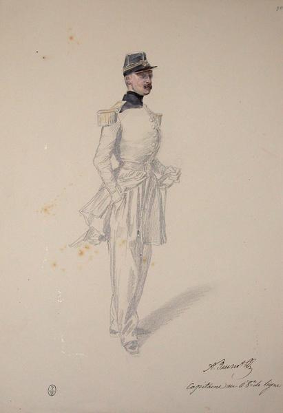 Buchot capitaine au 68e de ligne ; Siège de Rome de 1849 (en 3 tomes)