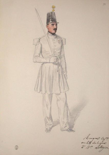 Rorgue, capitaine au 68e de ligne, 2e bataillon voltigeur ; Siège de Rome de 1849 (en 3 tomes)_0