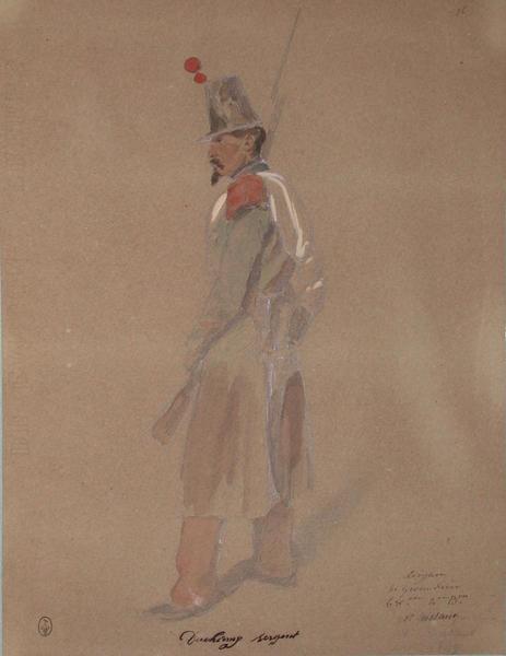 Ducherny, sergent des grenadiers, 68e, 2e bataillon, 1er assaut 1849 ; Siège de Rome de 1849 (en 3 tomes)_0