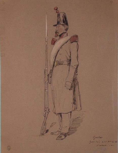 Grohat, grenadier au 2e bataillon du 68, assaut du 21, 1849 ; Siège de Rome de 1849 (en 3 tomes)