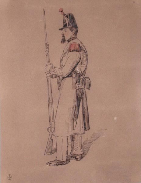 Robert, grenadier du 2e bataillon au 68e, 1er bataillon, 1849 ; Siège de Rome de 1849 (en 3 tomes)_0